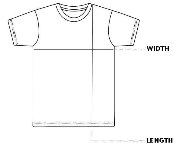 Enkalda Heavyweight T-Shirt Size Chart